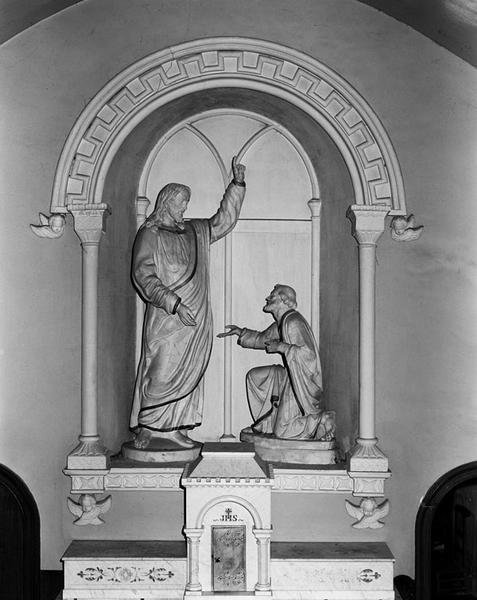 ensemble du maître-autel : autel, retable à niche, tabernacle