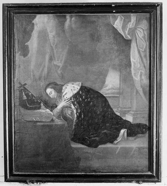 tableau : Saint Louis adorant la couronne d'épines