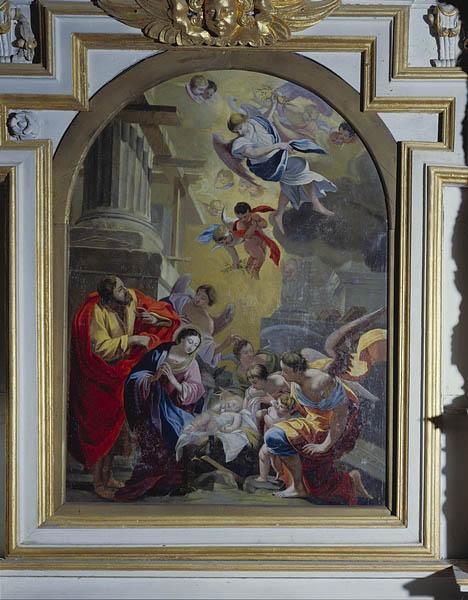 Tableau (tableau d'autel) : la Nativité