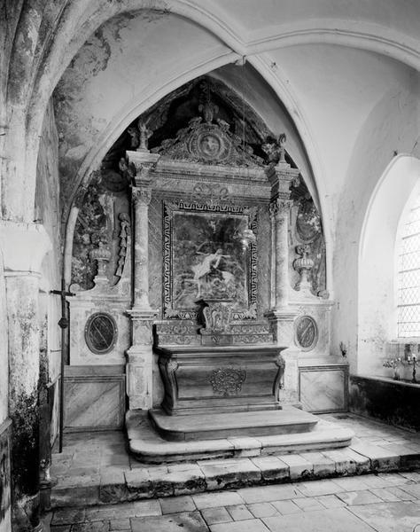ensemble du maître-autel : autel, retable, tabernacle