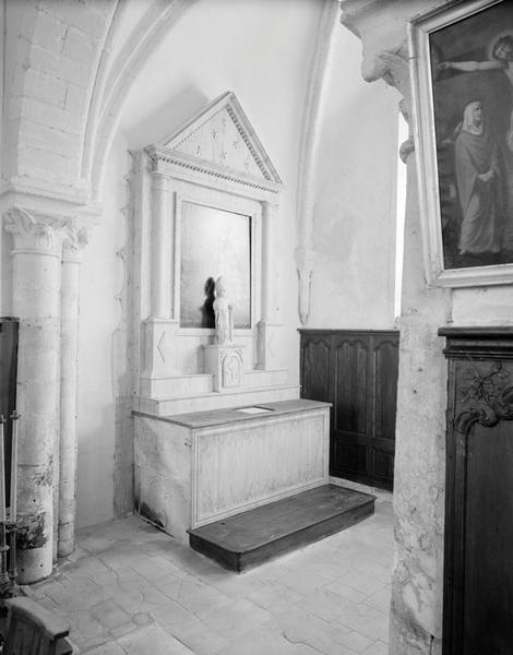 Autel, retable, tabernacle (autel secondaire de saint Germain)