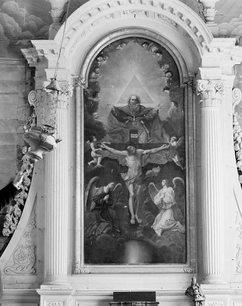 Tableau : Trinité et Christ en croix
