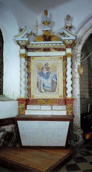 ensemble de 2 autels secondaires et retables (autel tombeau, retable architecturé)