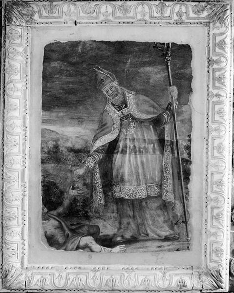 Peinture murale : saint Martin faisant l'aumône