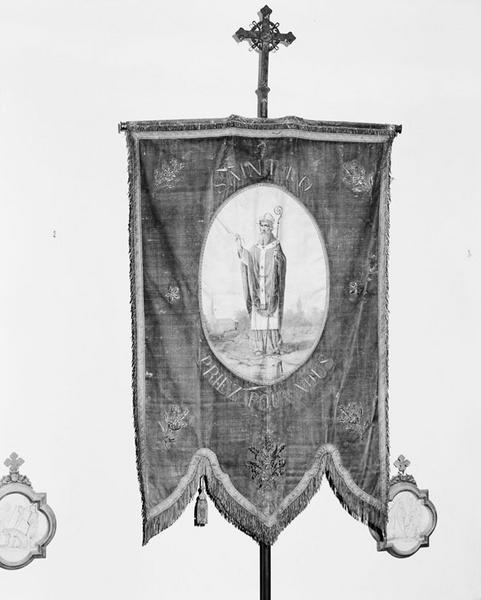 bannière de paroisse, de paroisse