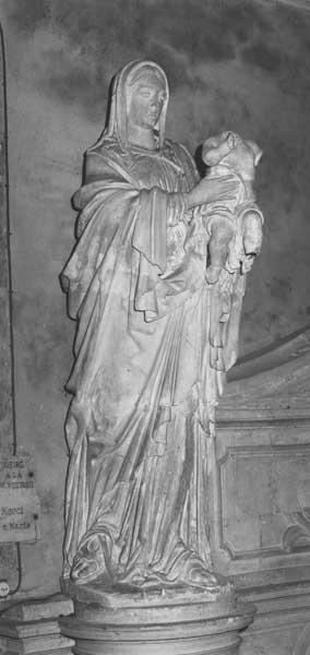 Statue (grandeur nature) : Vierge à l'Enfant