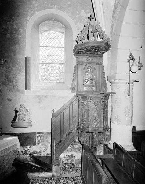 chaire à prêcher (d'applique, suspendu, mandegloire) de saint Jean Eudes