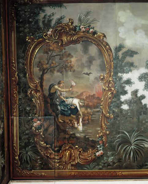 peinture : Thétis plonge Achille enfant dans le styx