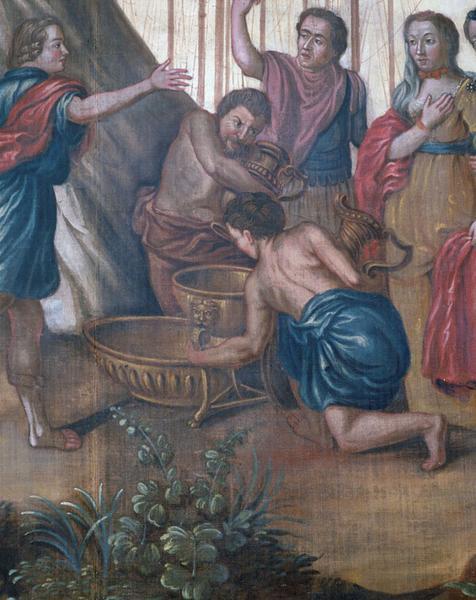 Revêtement mural : scènes de la vie d'Achille