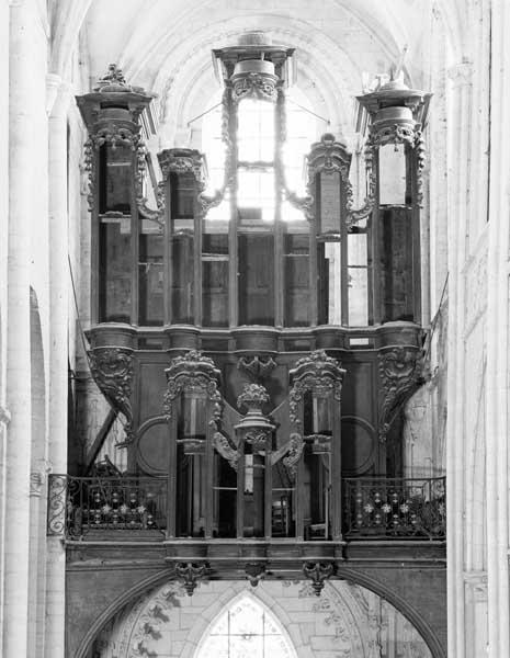 Buffet d'orgue, tribune d'orgue (grand orgue à positif)
