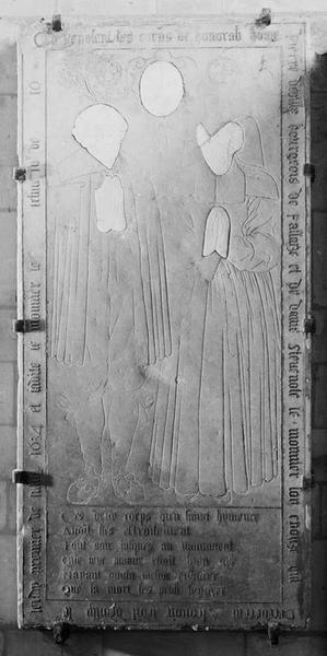 Dalle funéraire de Pierre de Villy et de Stèvenote Le Monnier
