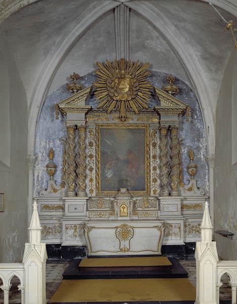 Ensemble du maître-autel (autel, tabernacle, gradin d'autel, retable)