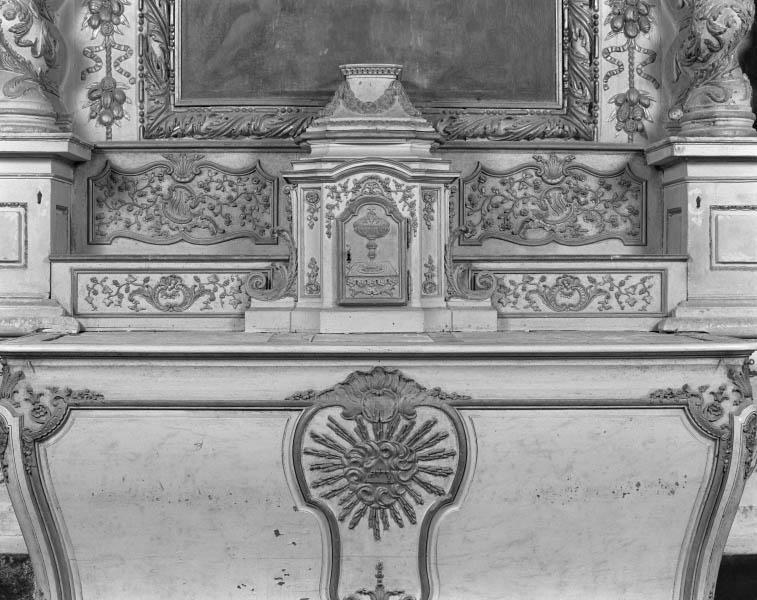 Tabernacle, gradin d'autel (tabernacle à ailes)