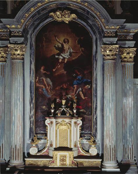 tableau (retable du maître-autel) : Résurrection du Christ