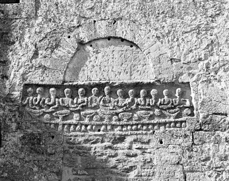 relief semi-méplat : la Cène
