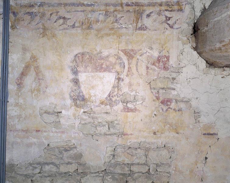 Peinture monumentale de l'ancien logis abbatial