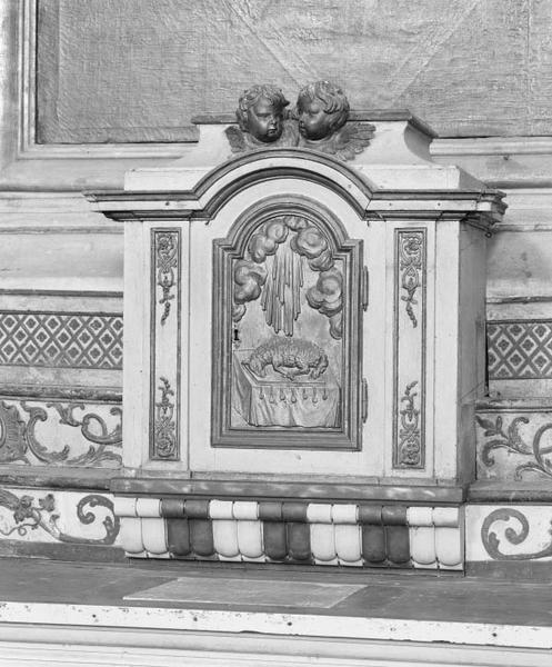 tabernacle, gradins d'autel (tabernacle à ailes)