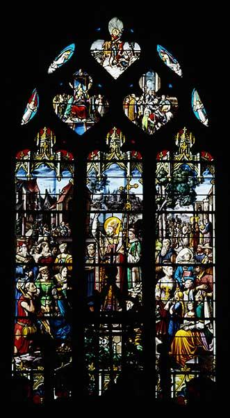 Verrière hagiographique : Saint Martin