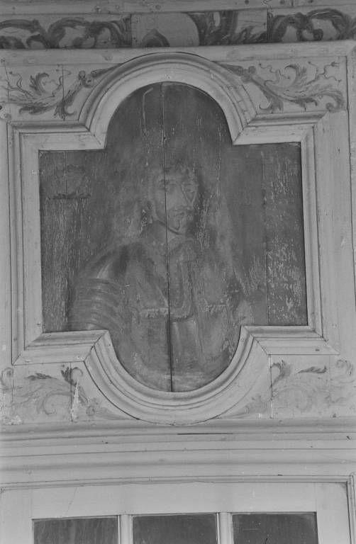 Ensemble de deux tableaux en pendant : portraits de Charles 1er de Vienne et de Marguerite Fauche de Domprel
