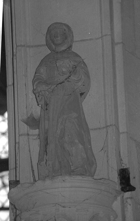 Statue (demi-nature) : saint Fiacre