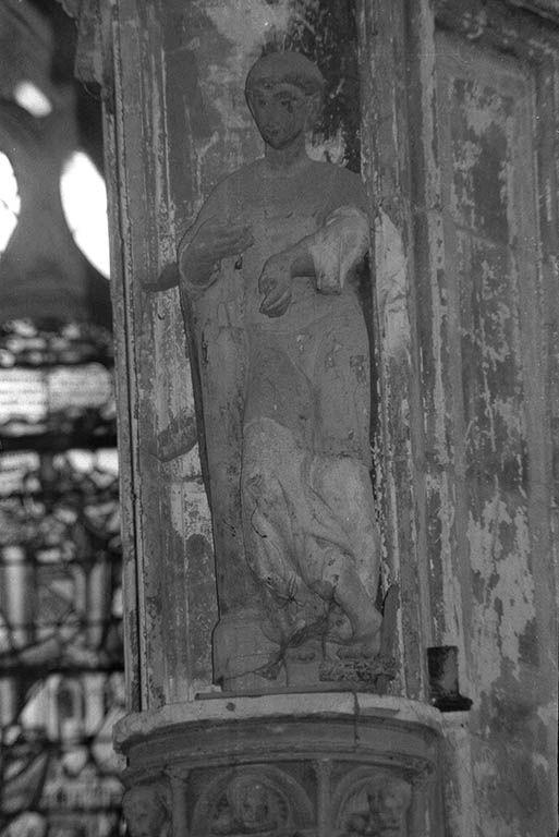 Statue (petite nature) : saint Simplice ?