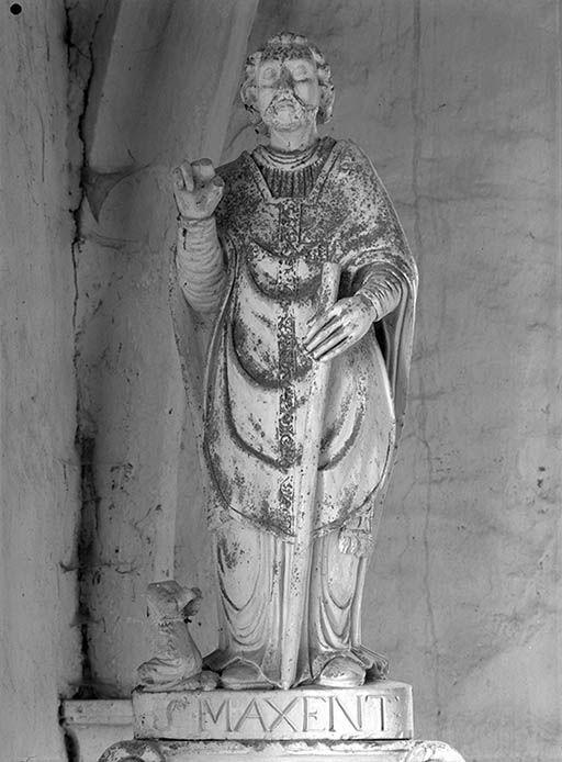 2 statues : Saint Jean-Baptiste et saint Maixent