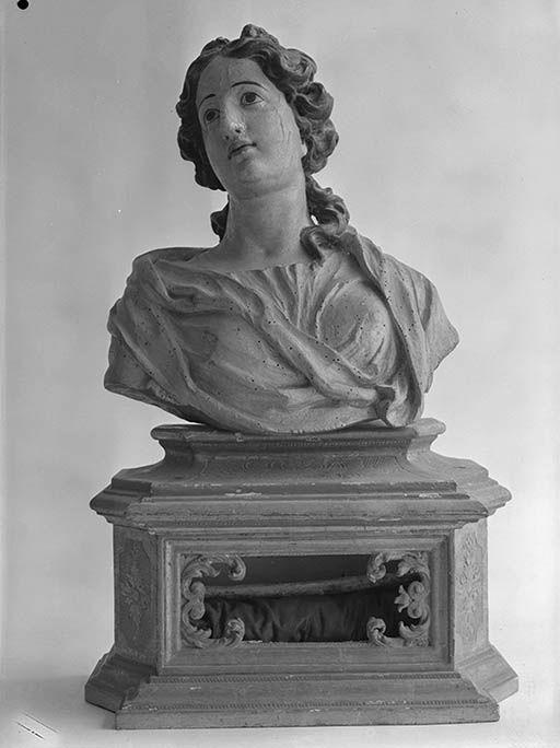 2 bustes-reliquaires : saint, sainte