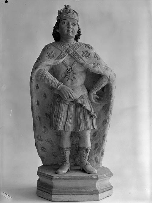 5 statues : Saint Eloi, saint Louis, sainte Barbe, sainte Brigitte de Suède, sainte Marguerite et groupe sculpté : saint Nicolas ressuscitant les trois petits clercs