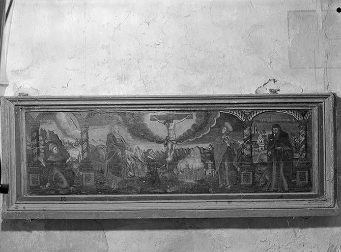 tableau : Le Calvaire avec saint Antoine et saint François