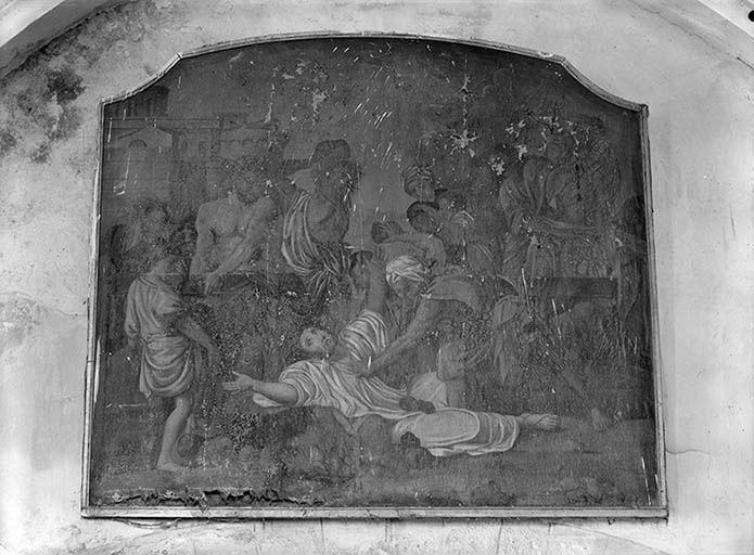 Tableau d'autel : La Lapidation de saint Etienne