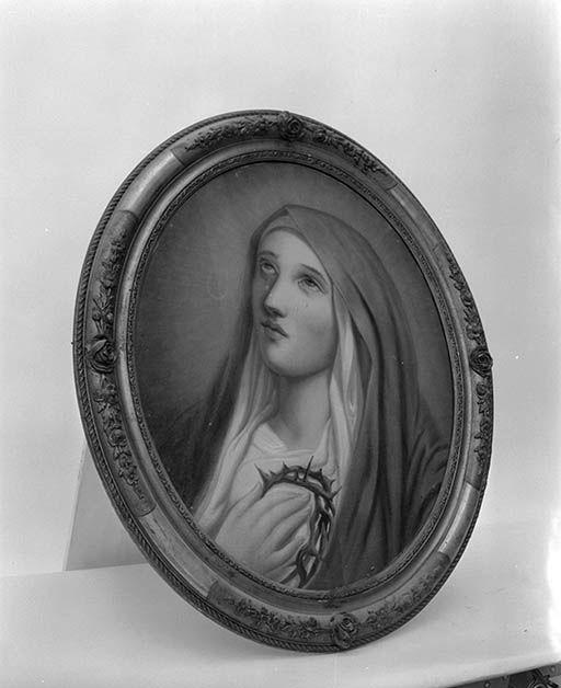 Tableaux en pendant : La Vierge, le Christ