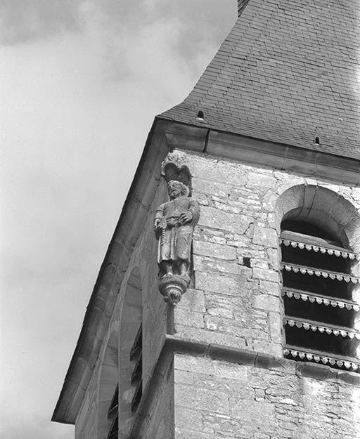 2 statues : Saint Antoine ermite, saint Roch (?)