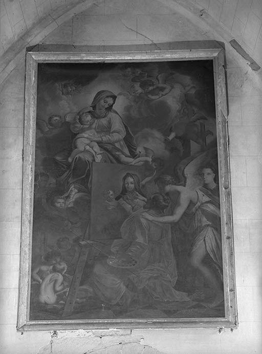 Tableau : Saint Luc peignant le portrait de la Vierge