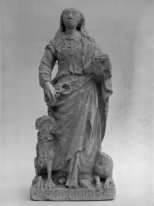 statuette : sainte Brigide d'Irlande