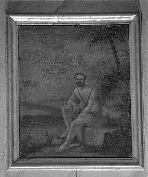 tableaux (7) : La Charité de saint Martin, saint Jean-Baptiste, l'Assomption, saint Jérôme, saint Hilaire de Poitiers, sainte Catherine d'Alexandrie, saint François d'Assise