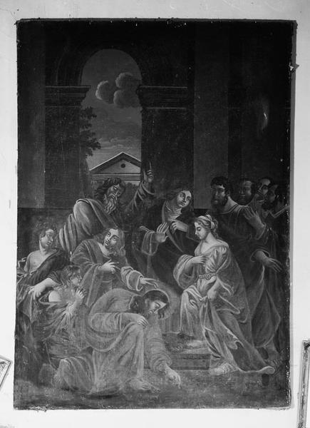 Tableau : le Christ et la femme adultère