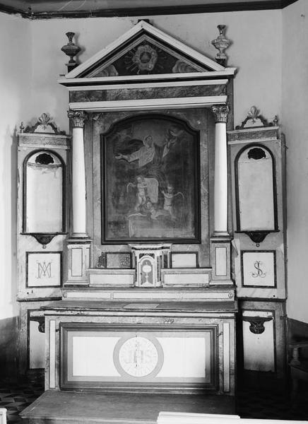 Autel, retable, tabernacle (autel tombeau, retable architecturé à niche, maître-autel)