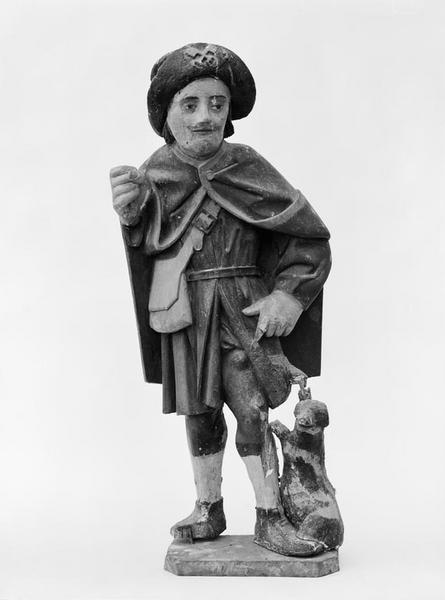 Statuette : saint Roch