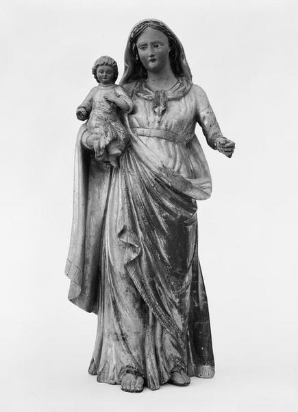 2 statuettes (en pendant) : Vierge à l'Enfant, saint Joseph