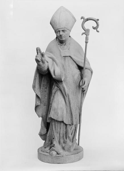 Statue (petite nature) : saint évêque