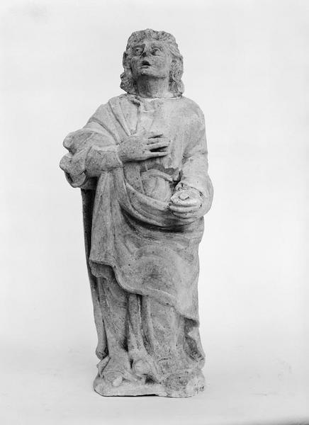 Statue (2, en pendant, statuette) : Vierge (la), saint Jean
