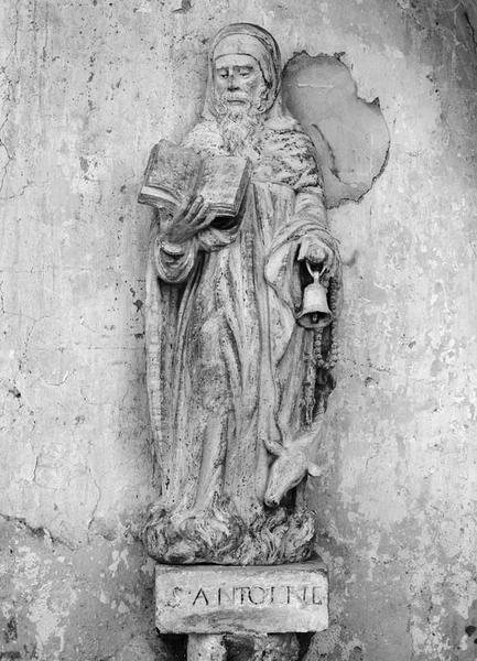 Groupe sculpté (petite nature) : saint Antoine