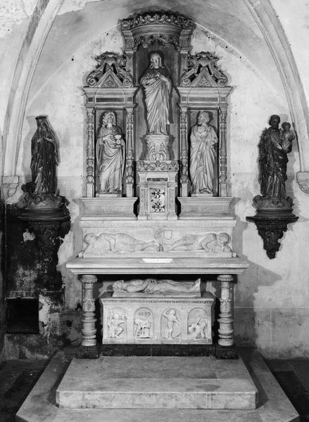 Autel, retable, tabernacle (autel table, retable architecturé) (n° 1)