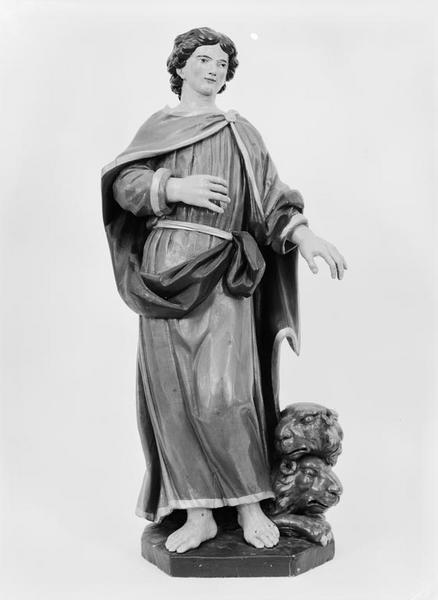Groupe sculpté (petite nature) : saint Abdon