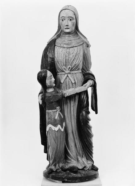 Groupe sculpté (petite nature) : Education de la Vierge