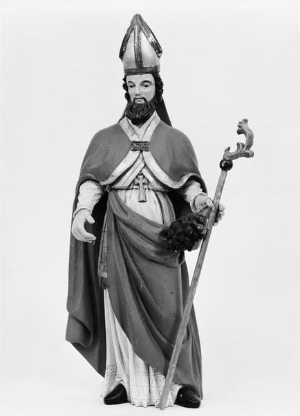 Statuette : saint Aubin