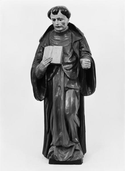 Statue (demi-nature) : saint abbé
