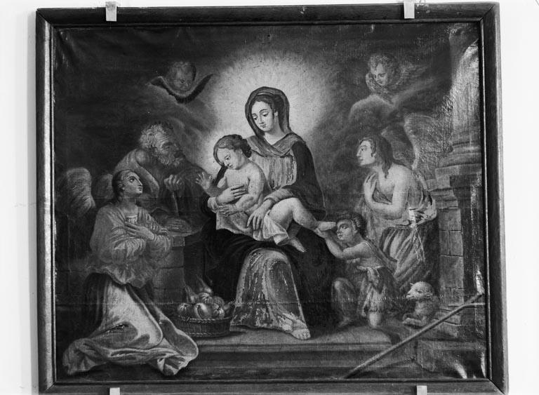 Tableau : Sainte Famille avec saint Jean-Baptiste