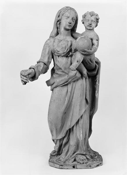 Statue (petite nature) : Vierge à l'Enfant