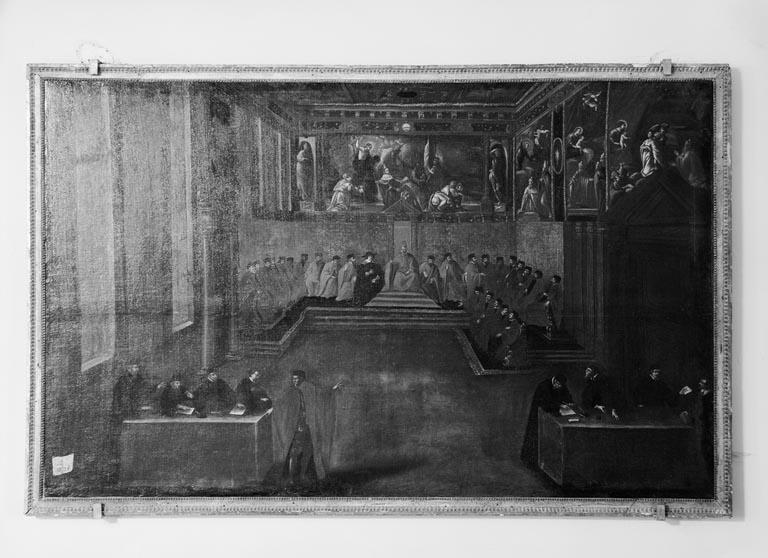 Tableau : Réception par le doge de Venise d'un ambassadeur de France membre de la famille de la Rochepot